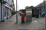 Elizabeth II postbox and phonebox on Queen Street, Bridlington (geograph 4823009).jpg