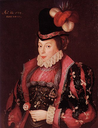 Francis Willoughby (1547–1596) - Portrait of Elizabeth Littleton, Lady Willoughby by George Gower (1573)