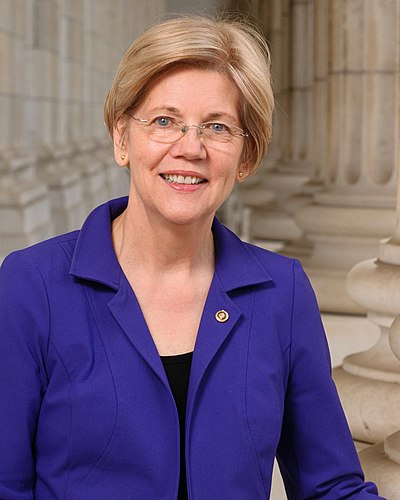 Senator Elizabeth Warren Elizabeth Warren, official portrait, 114th Congress.jpg