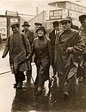 Jarrow marchers with Ellen Wilkinson