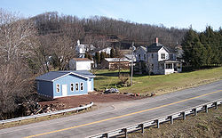Buildings along Route 16 in Ellenboro in 2007