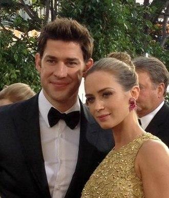 John Krasinski - Krasinski with wife Emily Blunt at the 2013 Golden Globe Awards
