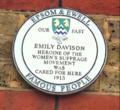 Emily Davison plaque Epsom.tiff