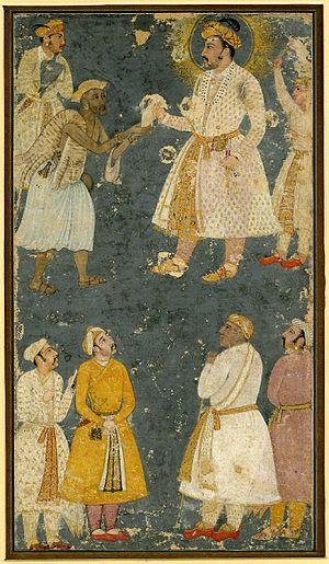 Fakir - Emperor Jahangir receiving a petition from a fakir.