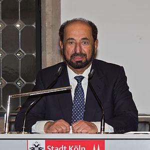 Sultan bin Muhammad Al-Qasimi - Image: Empfang für Sheik Qasimi, Sharjah, im Kölner Rathaus 0212