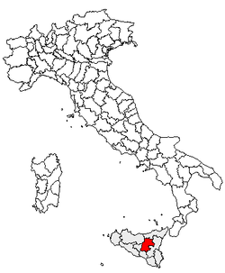 Location of Province of Enna