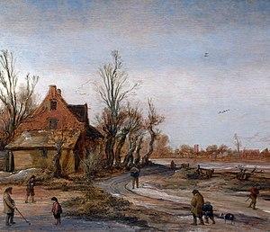 Esaias van de Velde - Esaias van de Velde, A Winter Landscape (1623)