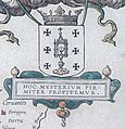 Escudo da Galiza co campo branco na Descripcion del Reyno de Galizia de Fernando Ojea (1603).jpg