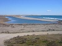 Espais naturals del riu Llobregat - 16 Platja de ca l'Arana des del Mirador de la Bunyola.JPG