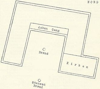 Essenbæk Abbey - The monastery's probable floor plan.