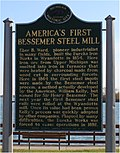 Eureka Iron Works historical marker Wyandotte Michigan.JPG