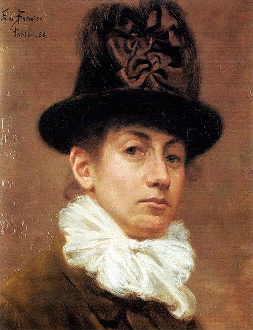 Eva Bonnier Självporträtt 1886