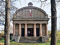 Evangelický hřbitov ve Strašnicích, kaple (2).jpg