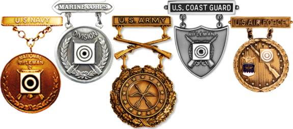 Examples of US Military EIC Badges