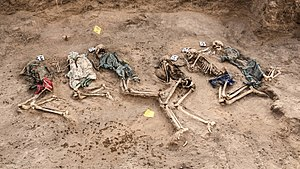 Isaaq genocide - Image: Exhumed remains of victims Isaaq genocide