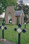 exterieur begraafplaats, overzicht kapel - berkel-enschot - 20001221 - rce