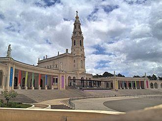 Cova da Iria - The Sanctuary of Our Lady of Fátima in Cova da Iria, Fátima, Portugal.