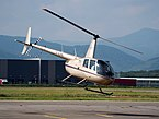 F-HJPR R44 Raven II take off from Colmar - Houssen Airport (IATA=CMR, ICAO=LFGA), photo 4.JPG