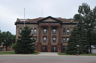 National Register of Historic Places listings in Faulk County, South Dakota - Image: FAULK COUNTY COURTHOUSE, FAULK, SD