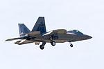 FF177 F-22A on final for R-W05R(2). (9055483317).jpg