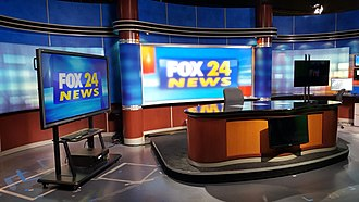 WTAT-TV - This is the current look of the FOX 24 News set after leaving WCSC's studios.