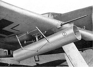 Jagdgeschwader 11 - Picture from the Technical Specifications of underwing mortar WGr 21.