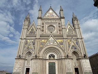 Orvieto - Facade of the Orvieto Cathedral.