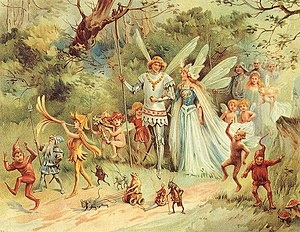 Karin Svensdotter - An illustration of the Fairy King and Queen from 1910. Artist unknown.