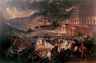 Battle of Nineveh (612 BC) - The Fall of Nineveh, by John Martin