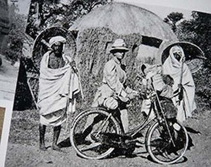 Fanny Bullock Workman - Fanny Bullock Workman on her bicycle tour of India (c. 1897)
