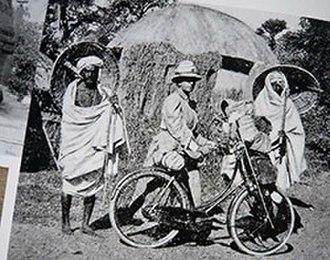 Fanny Bullock Workman - Fanny Bullock Workman on her bicycle tour of India (c. 1897)