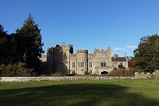 Featherstone Castle Large Gothic style country mansion situated on the bank of the River South Tyne in Northumberland, England.