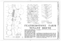 Featherstone Tenant Farm, County Road 81, Lowndesville, Abbeville County, SC HABS SC,1-LOWN.V,3- (sheet 1 of 2).png