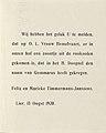 Felix Timmermans - Geboortekaartje Gommaar - 1930 - xylogravure - Royal Library of Belgium - S.I 47243 (text).jpg