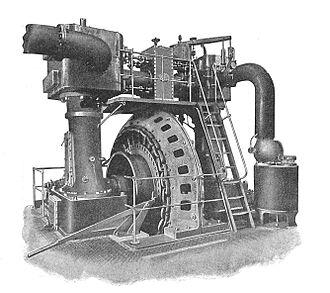 Ferranti - Ferranti steam generating set, c. 1900
