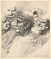 Five grotesque heads, including an elderly man with an oak leaf wreath MET DP823886.jpg