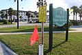 Flag for crosswalk, St. Augustine Beach.jpg