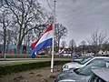 Flag halfway for the death of Mayor Pieter Smit, Winschoten (11 April 2018) 10.jpg
