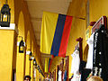 Flags of Colombia in Cartagena.jpg