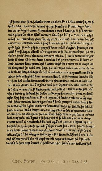 Rognvald Eysteinsson - A page from the Orkneyinga saga, as it appears in the 14th century Flateyjarbók.