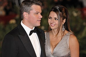 Matt Damon and his wife Luciana Bozán Barroso ...