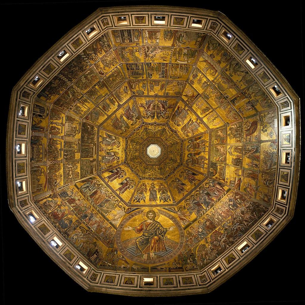 баптистерий сан джованни , флорентийский баптистерий , купол мозаика