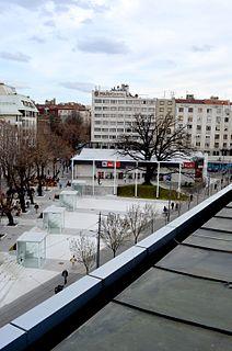 Cvetni trg Urban neighbourhood in Vračar, Belgrade, Serbia