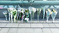 Flower Bouquets for Victims of TransAsia Airways Flight 222 in Exit 3 of Songshan Airport Station 20140726.jpg