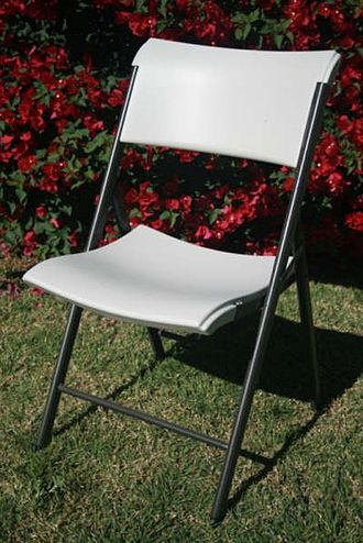 Folding chair - A typical folding chair