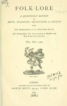 Folk-lore - A Quarterly Review. Volume 16, 1905.djvu