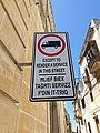Forbiden truck except to render a service in this street, Malta.jpg