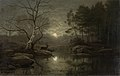 Forest Landscape in the Moonlight by Georg Eduard Otto Saal Rijksmuseum Amsterdam SK-A-1827.jpg
