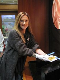 Former U.S. Olympian Peggy Fleming holds a Gold at the Pavilion.jpg