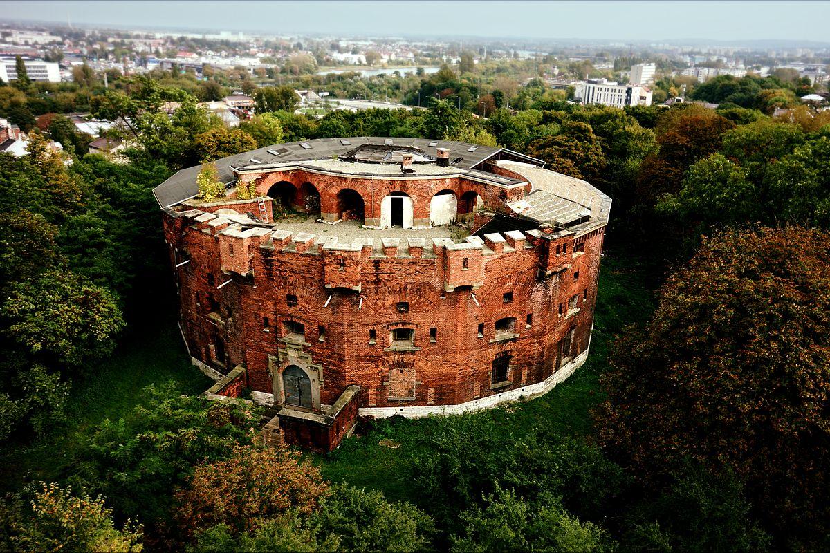 Fort 31 Twierdzy Kraków z lotu ptaka